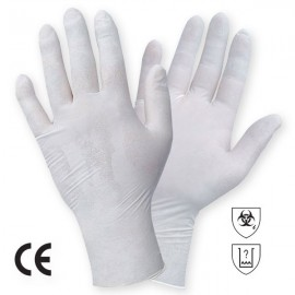 MANUSA DE EXAMINARE NESTERILA DIN LATEX NATURAL,PUDRATA, SOFT ART. 1400